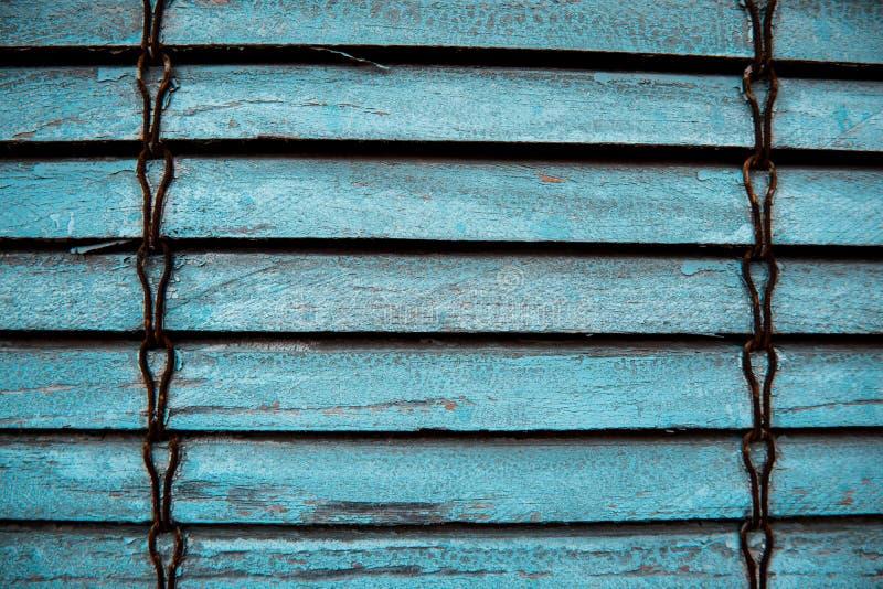 Textuur van oude blauwe blinden stock fotografie