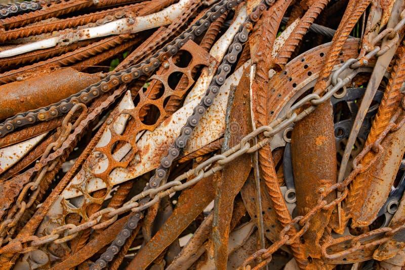 Textuur van oude en roestige metalen stock foto