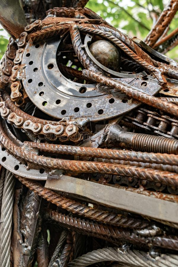 Textuur van oude en roestige metalen royalty-vrije stock foto
