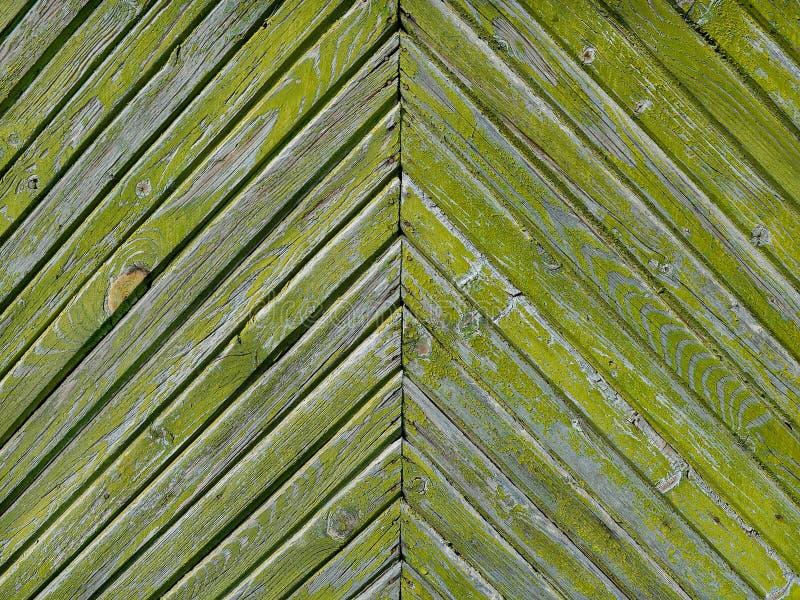 Textuur van oude grijze groene muur van visgraat houten raad royalty-vrije stock fotografie