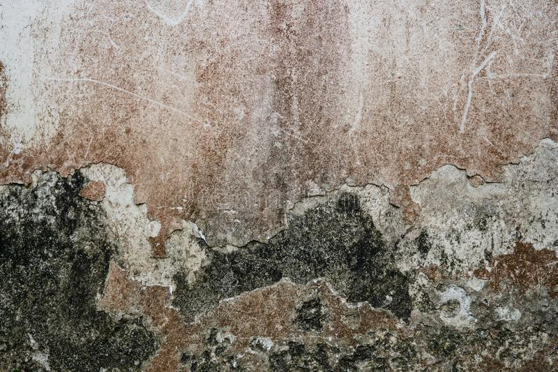 Textuur van oude grunge, vuil, stof en gekraste concrete cementmuur voor achtergronden, stedelijke achtergrond met ruwe textuur stock afbeelding
