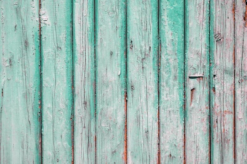 Textuur van oude planken uitstekende turkooise kleur royalty-vrije stock foto