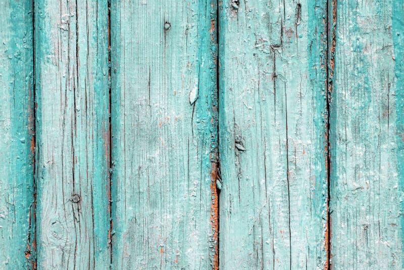 Textuur van oude planken uitstekende turkooise kleur stock afbeeldingen