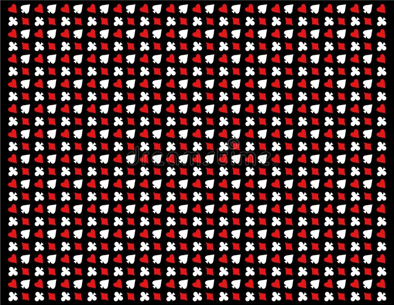 Textuur van pookpictogrammen op zwarte achtergrond vector illustratie