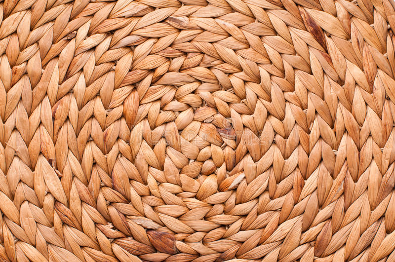 Textuur van rieten mand stock fotografie