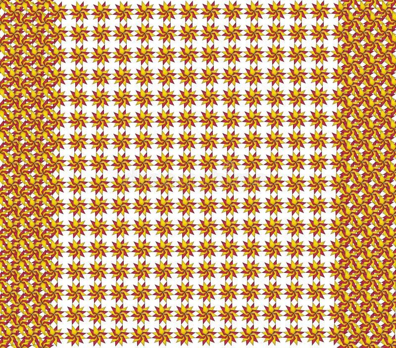 Textuur van rode en gele cijfers stock illustratie