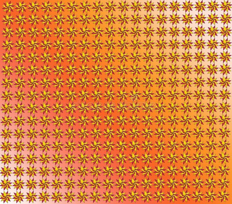 Textuur van rode en gele cijfers vector illustratie