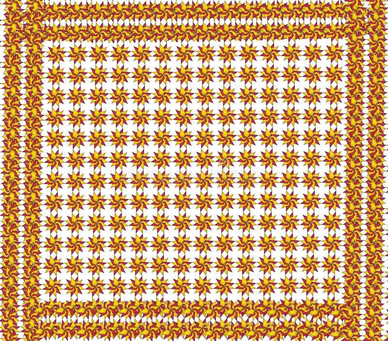 Textuur van rode en gele cijfers met kader stock illustratie