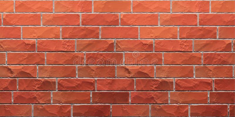 Textuur van rode grunge brickwall royalty-vrije illustratie