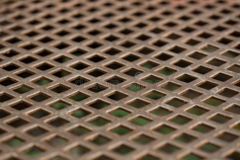Textuur van roestvrij staal, geperforeerd bladmetaal stock foto's