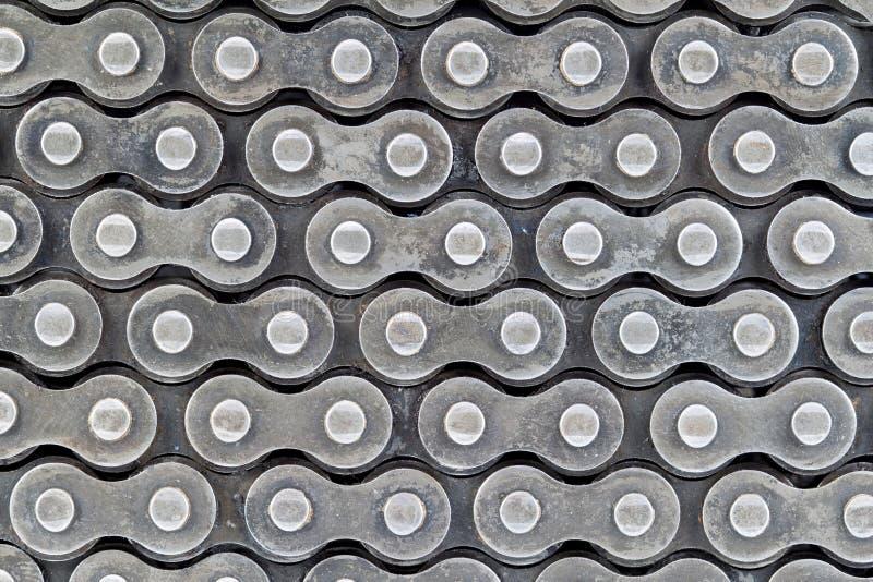 Textuur van rolkettingen stock foto