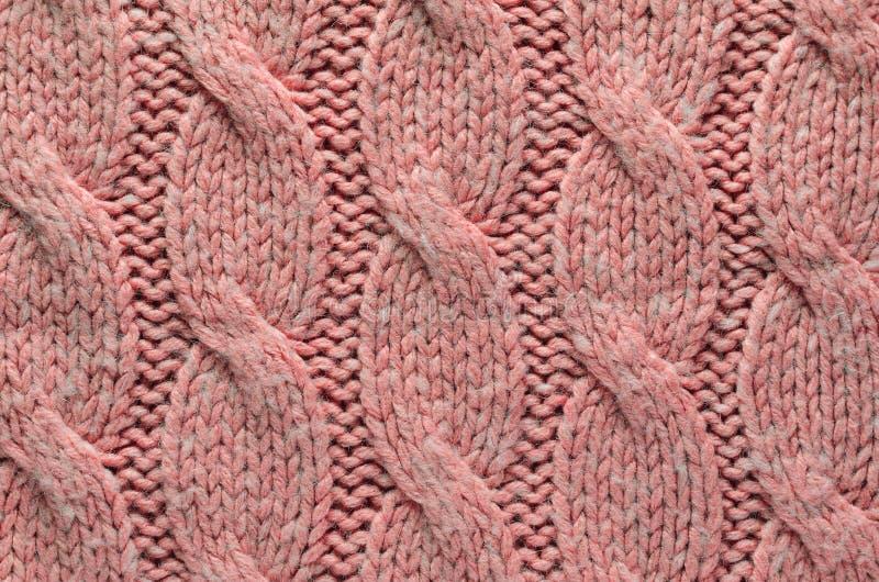 Textuur van Roze Gebreide Doek stock fotografie