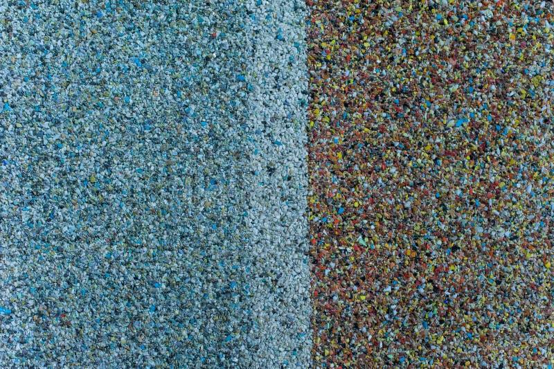 Textuur van steenspaanders met de lichtblauwe helft royalty-vrije stock foto's