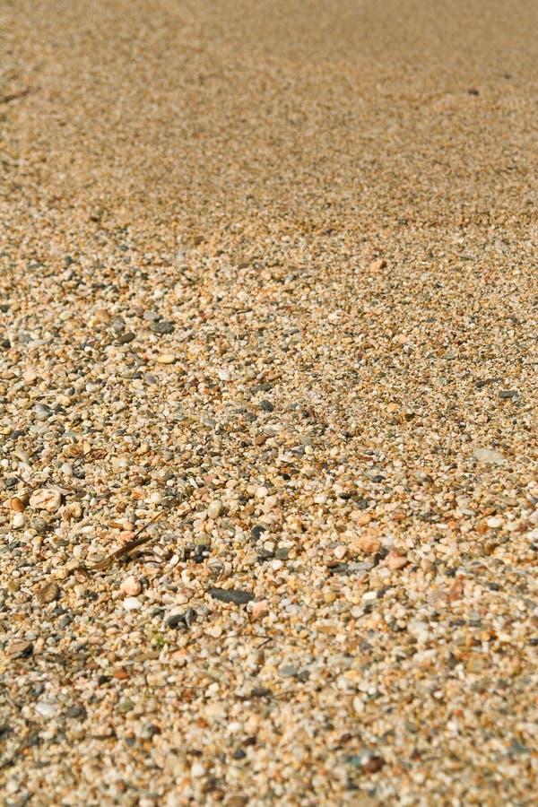 Textuur van strandzand stock fotografie