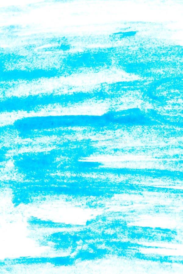 Textuur van turkooise waterverfverf Rechthoekige watercolourachtergrond royalty-vrije stock afbeeldingen