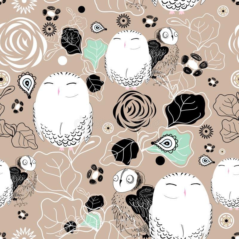Textuur van uilen royalty-vrije illustratie