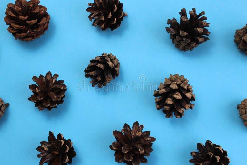 Textuur van vezelkegel op een blauwe achtergrond royalty-vrije stock foto's