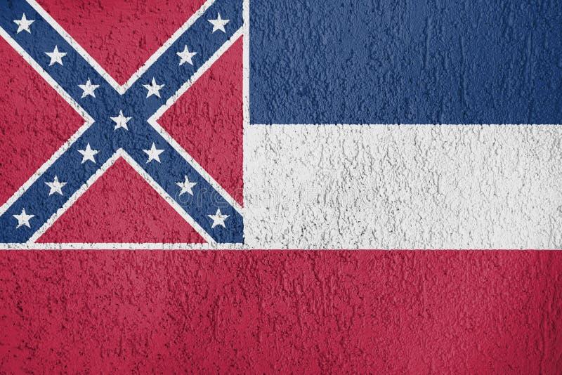 Textuur van vlag van de Mississippi stock afbeeldingen