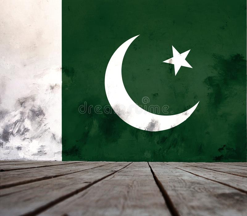Textuur van vlag van Pakistan stock foto