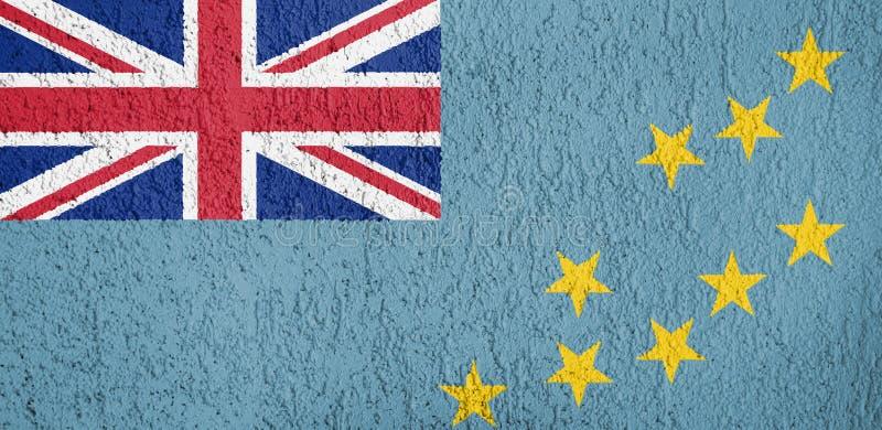 Textuur van vlag Tuvalu stock foto