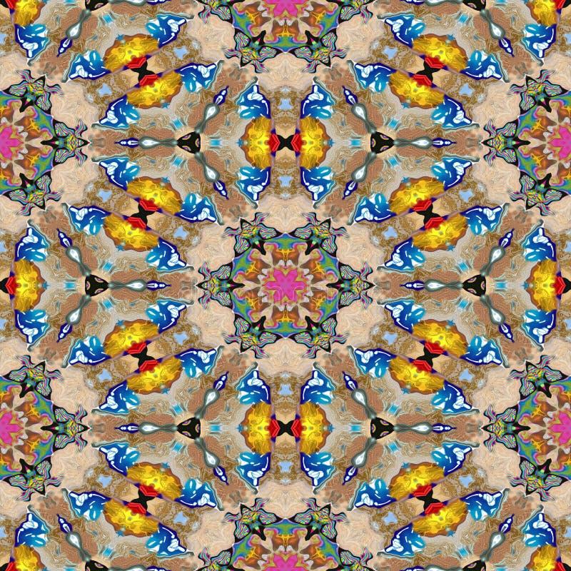 Textuur van vlek de caleidoscopische naadloze geproduceerde huren royalty-vrije stock afbeeldingen