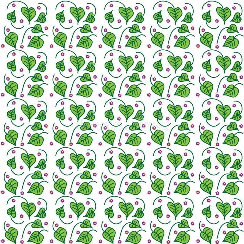 Textuur van winde met bloemen royalty-vrije illustratie