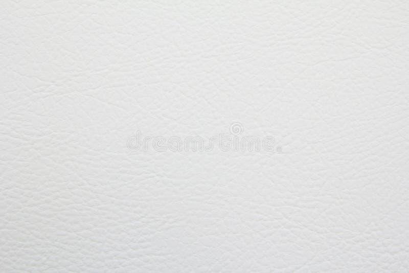 Textuur van Witte leerachtergrond royalty-vrije stock afbeelding