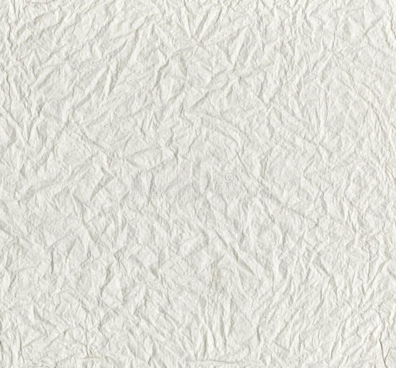 Textuur van witte papieren zakdoekje, achtergrond of textuur Wit geweven WC verfrommeld document met een golvend patroon stock afbeeldingen