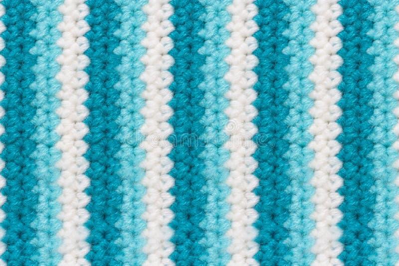 Textuur van wollen breiende stof met verticale strepen royalty-vrije stock fotografie