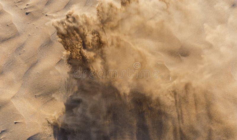 Textuur van zand op het strand royalty-vrije stock foto's