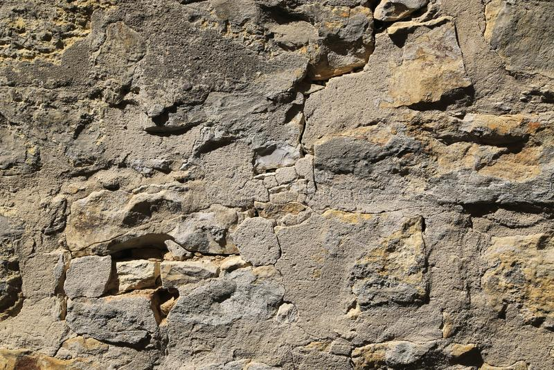 Textuur van zeer oude steenmuur royalty-vrije stock fotografie