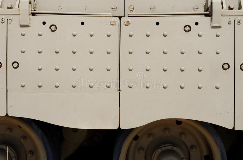 Textuur van zijrok van Israëlisch Merkava-Teken III tank royalty-vrije stock afbeelding