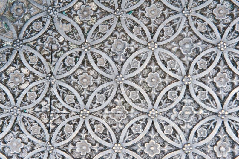 Textuur van zilveren metaalplaat stock afbeelding