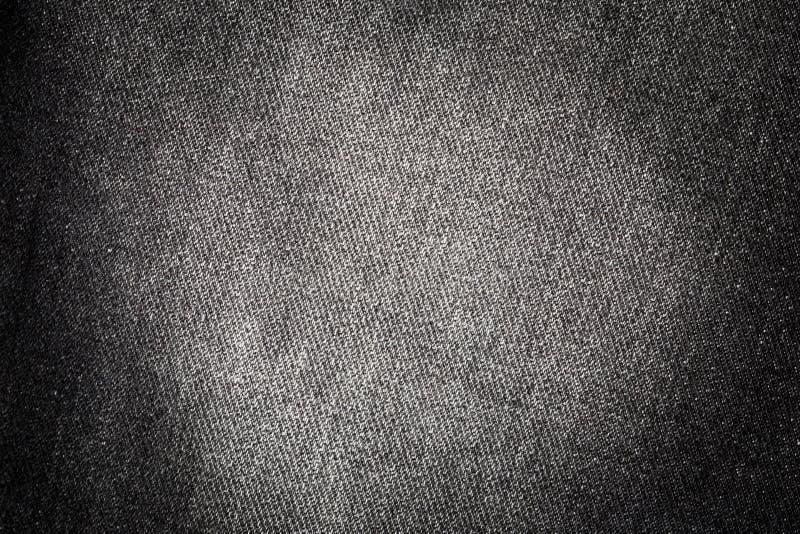 Textuur van zwart denim stock afbeeldingen