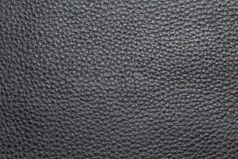 Textuur van zwart leer. stock fotografie