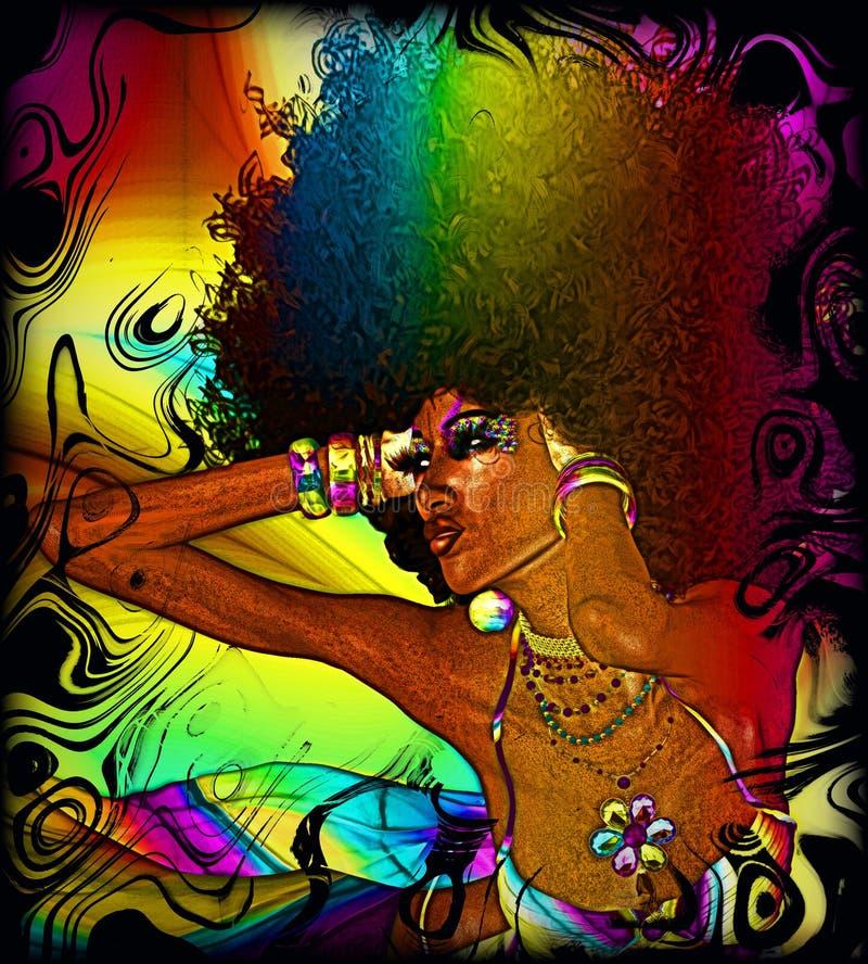 Textuurachtergrond, Kleurrijke Abstracte, Retro Afro vector illustratie