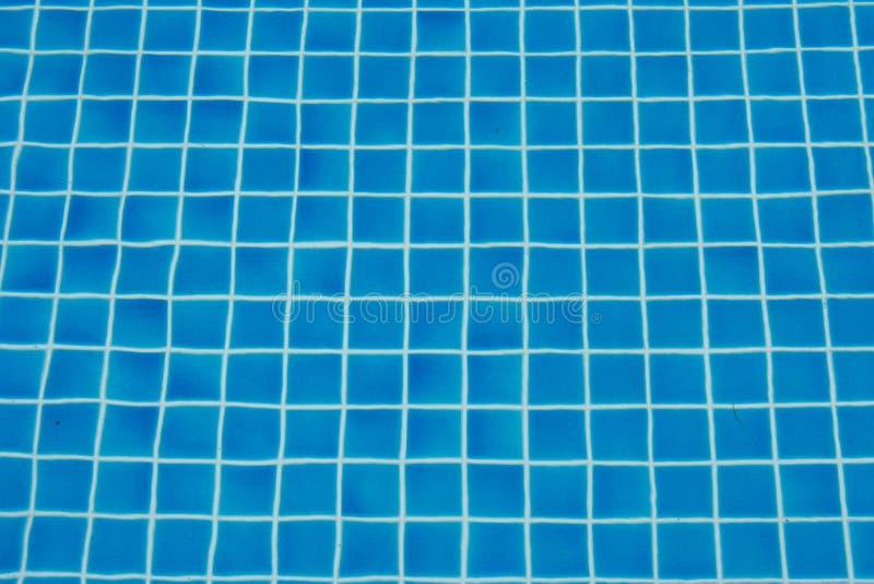 Textuurachtergrond van blauw keramische tegelmozaïek stock afbeeldingen
