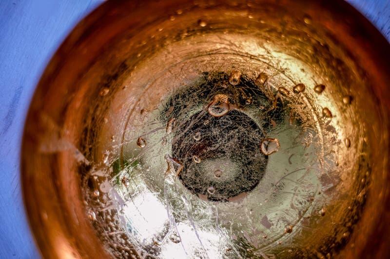 textuurgoud Gouden dalingen aan de bodem Abstractie royalty-vrije stock foto's