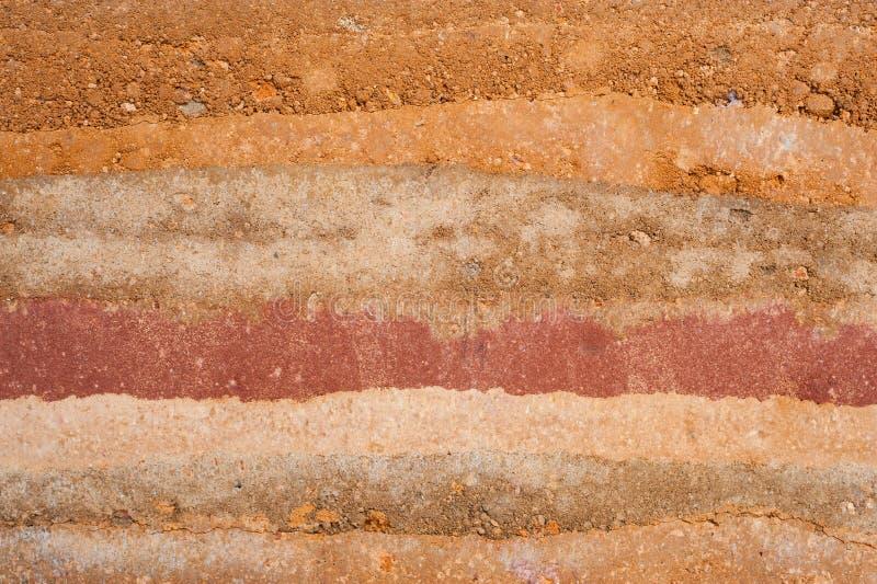 Textuurlagen van aarde royalty-vrije stock afbeeldingen