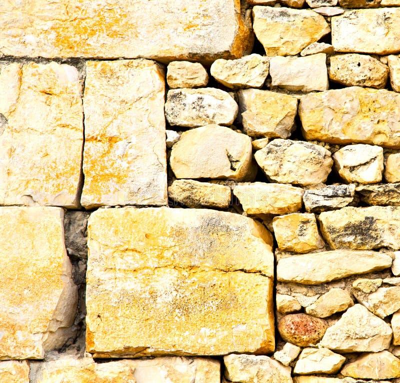 textuurmuur in Afrika Marokko de oude baksteenconstructie concre royalty-vrije stock fotografie