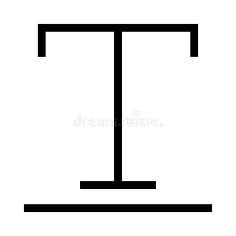 Textvektorlinie Ikone vektor abbildung
