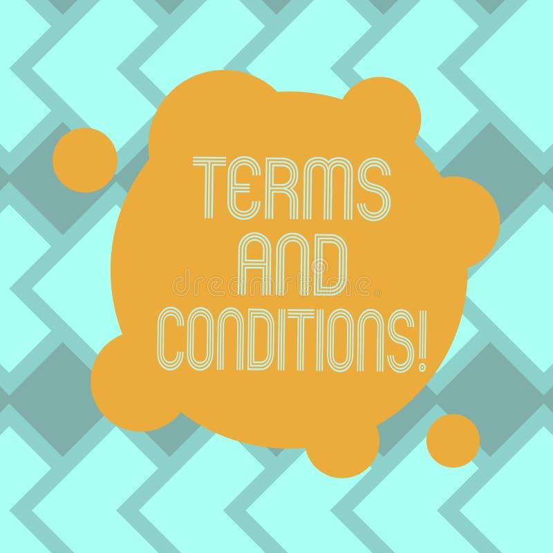 Textzeichen, das allgemeine Geschäftsbedingungen zeigt Begriffsfotodetail die Regeln, die zutreffen, um einen bestimmten Vertrag  stock abbildung