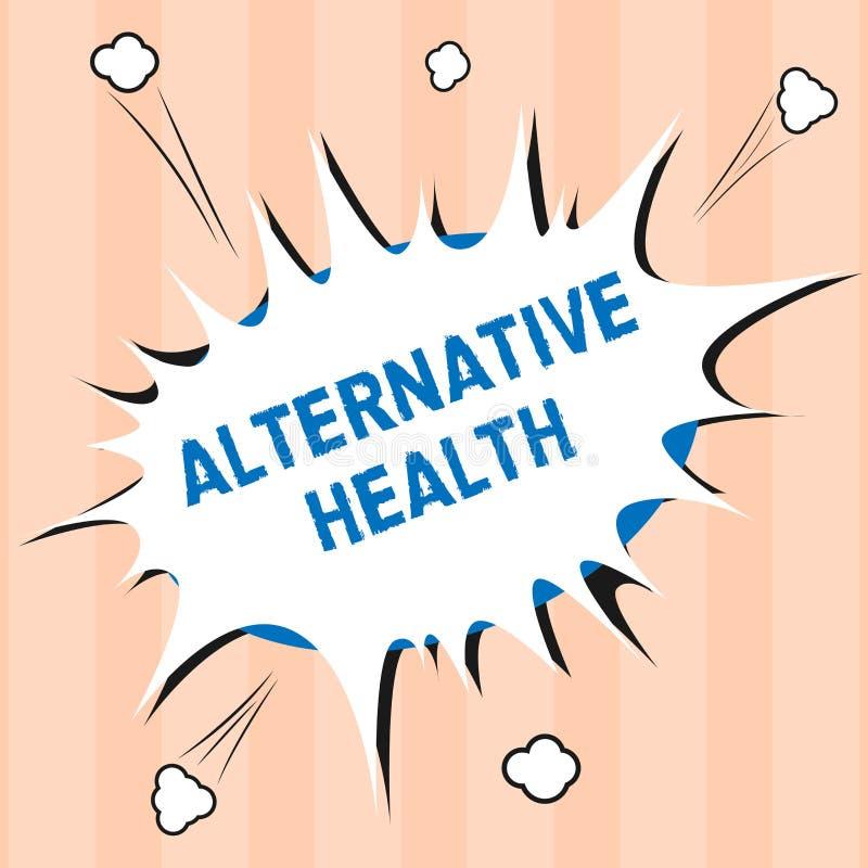 Textzeichen, das alternative Gesundheit zeigt Begriffsfoto Arztpraxen, die nicht Teil Standardsorgfalt sind vektor abbildung