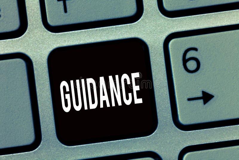 Textzeichen, das Anleitung zeigt Begriffsfotorat oder -informationen angestrebt, Problem oder Schwierigkeit lösend stock abbildung