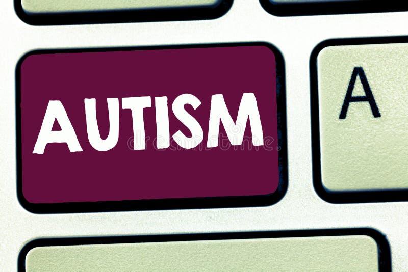 Textzeichen, das Autismus zeigt Begriffsfoto Schwierigkeit in dem Einwirken und Angelegenheiten auf andere Vertretung bildend stock abbildung