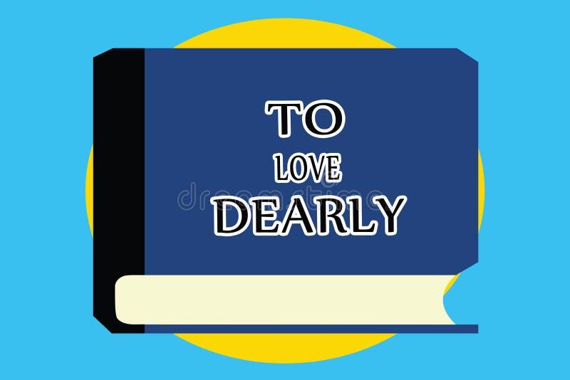 Textzeichen, das darstellt, um lieb zu lieben Begriffsfoto Liebe jemand sehr viel auf die bescheidenere Art und ziellos vektor abbildung