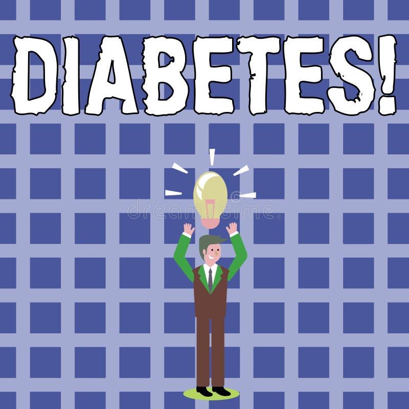Textzeichen, das Diabetes zeigt Chronische Krankheit des Begriffsfotos verbunden zu den hohen Stufen der Zuckerglukose im Blut lizenzfreie abbildung