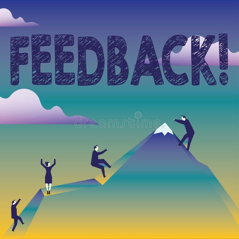 Textzeichen, das Feedback zeigt Begriffsfoto Kunden-Bericht-Meinungs-Reaktions-Bewertung geben ein Wartezurück Geschäft stock abbildung