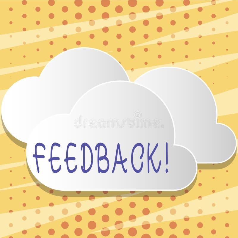 Textzeichen, das Feedback zeigt Begriffsfoto Kunden-Bericht-Meinungs-Reaktions-Bewertung geben einen Wartezurück freien Raum lizenzfreie abbildung