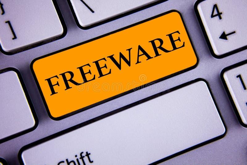 Textzeichen, das Freeware zeigt E lizenzfreies stockbild
